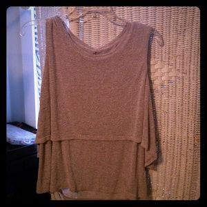 Knitted Ruffled Tank Top